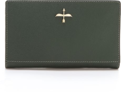 Pour La Victoire Yves Zip Around Wallet in Green (Evergreen)