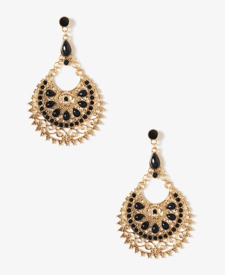 Forever 21 goddess crescent earrings in metallic lyst for Forever 21 jewelry earrings