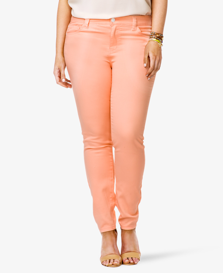 Forever 21 Colored Skinny Jeans in Pink | Lyst