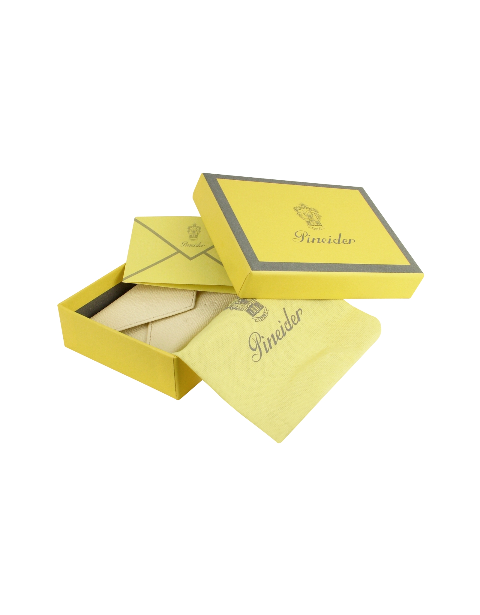 Lyst pineider city chic envelope shaped calf skin for Chic business card holder