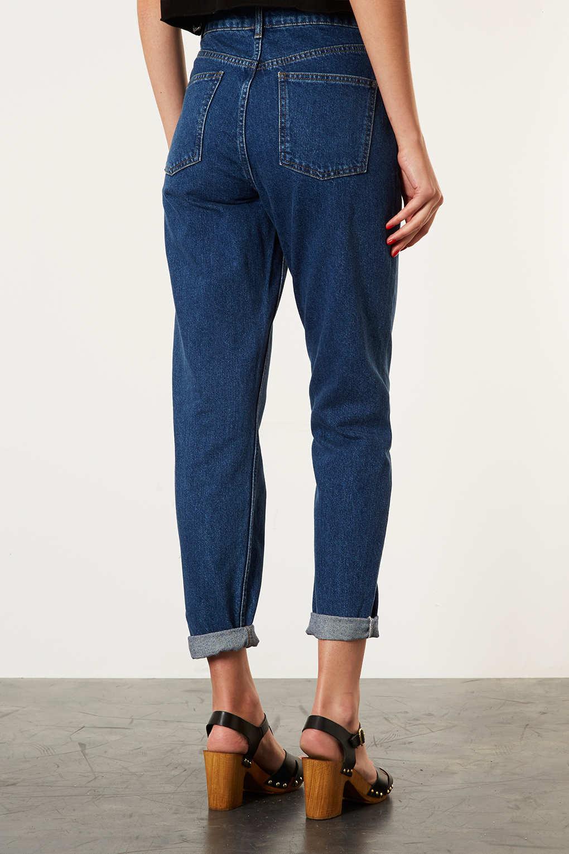topshop moto raw hem indigo jamie jeans in blue lyst. Black Bedroom Furniture Sets. Home Design Ideas