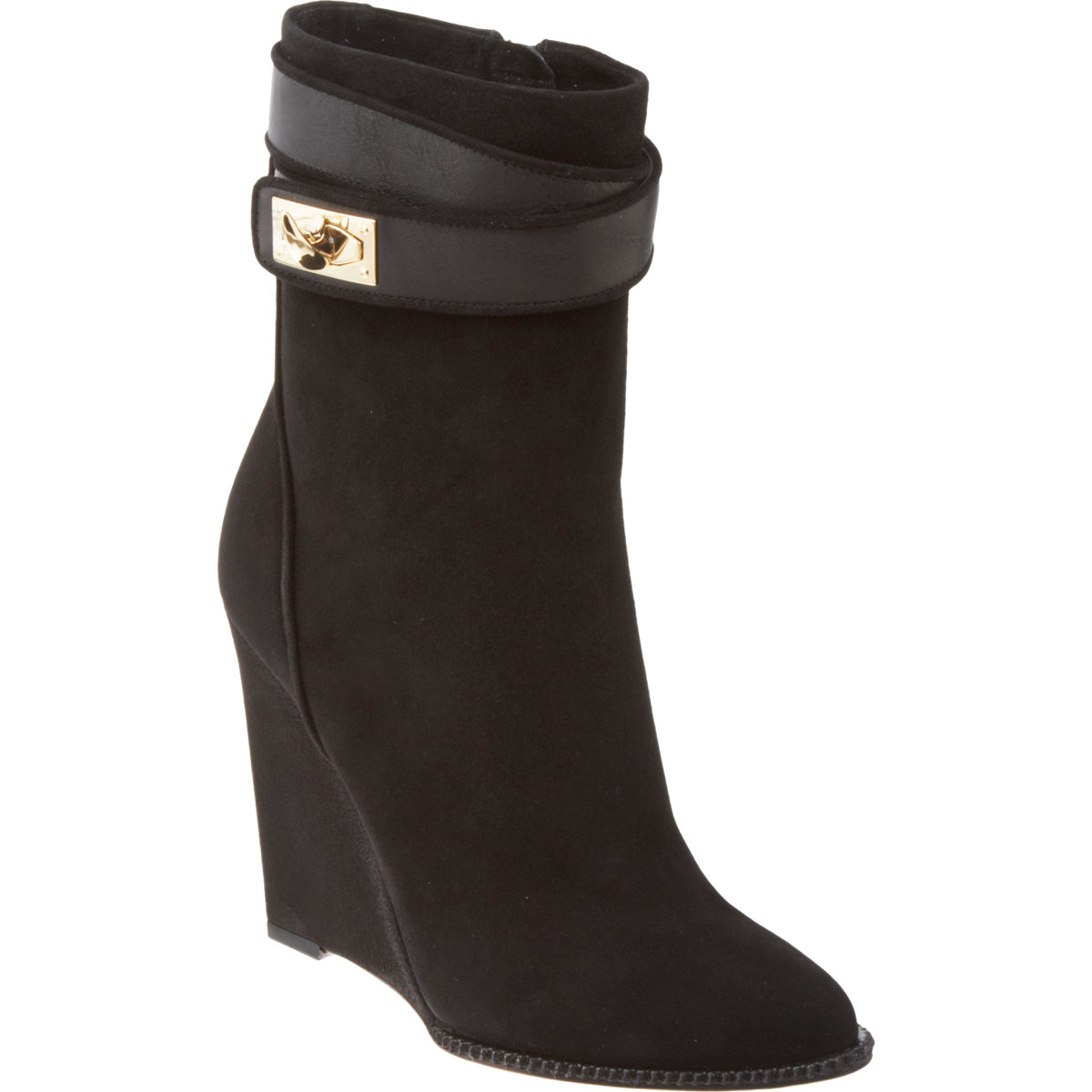 givenchy shark tooth wedge ankle boot in black lyst