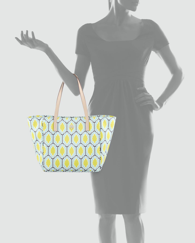 Kate Spade Cabana Tile Sidney Tote Bag Bluegreen Lyst