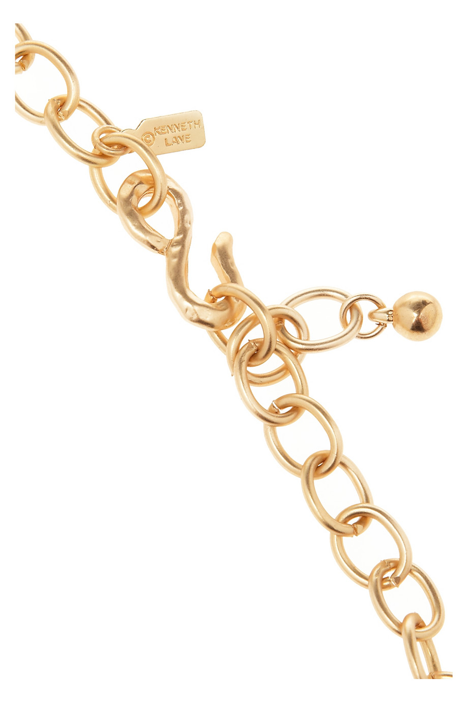 Kenneth Jay Lane Hammered Gold Plated Necklace in Metallic