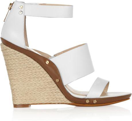 White Sandals Michael Kors White Wedge Sandals