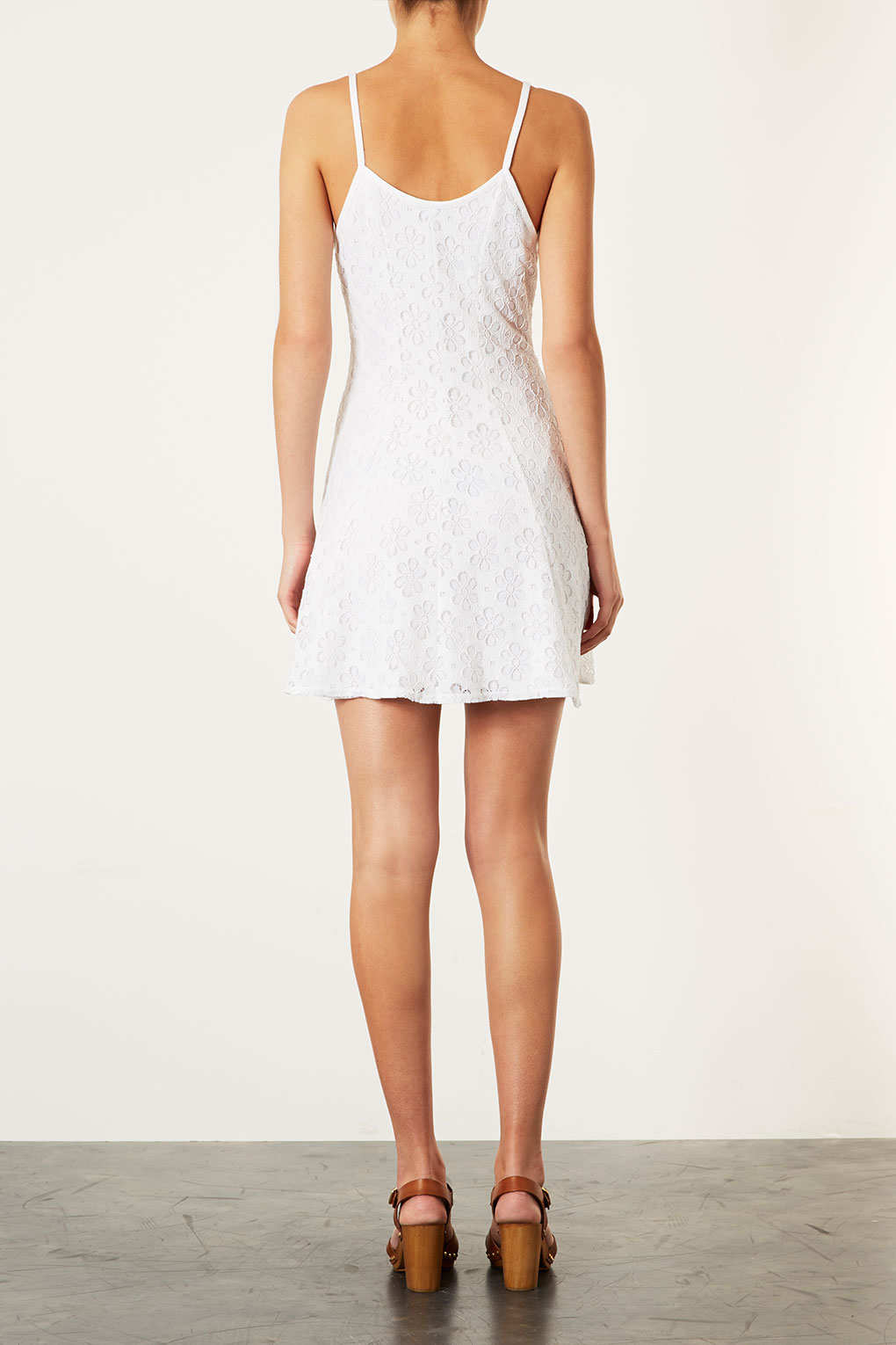 Lyst Topshop Strappy Lace Dress In White