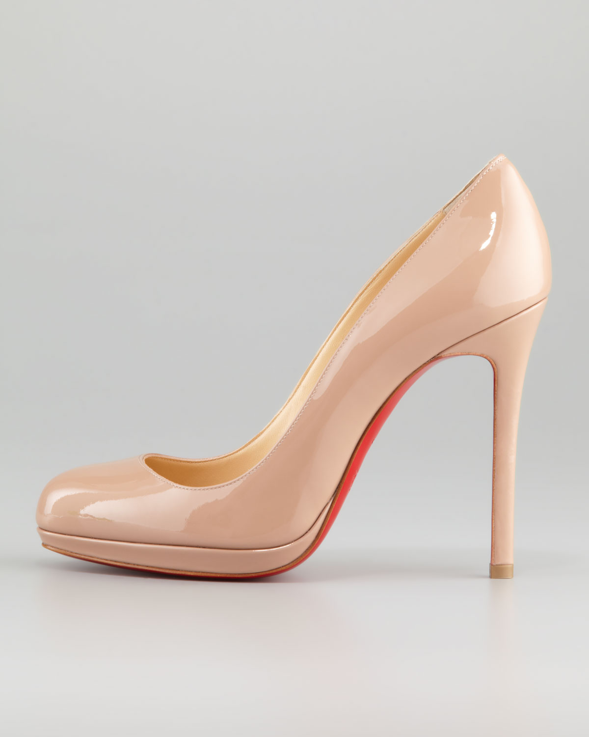 Lyst - Christian Louboutin Neofilo Patent Roundtoe Red Sole Pump ... a7d51f88c517