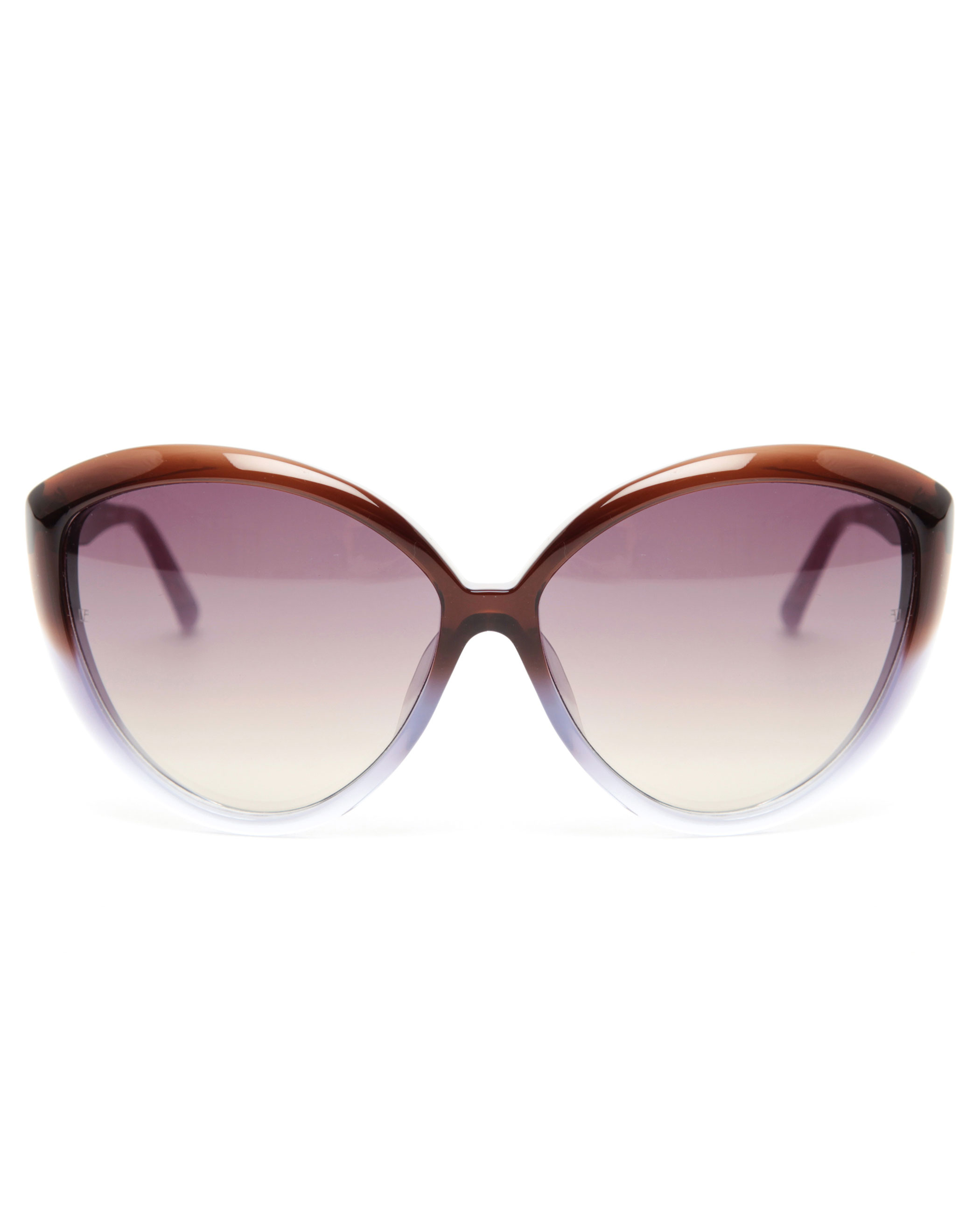 e68bc5bbd844 Lyst - Linda Farrow Oversized Cat-eye Acetate Sunglasses in Brown