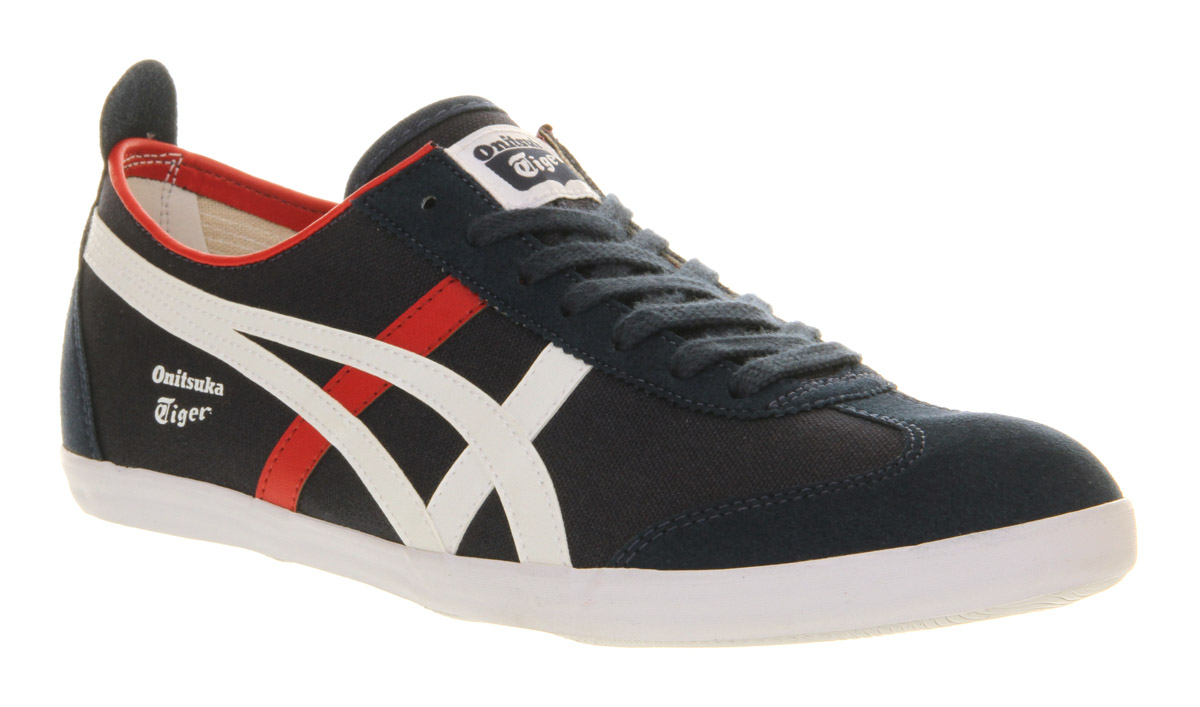 check out 809e2 9f58f Onitsuka Tiger Black Mexico 66 Vulc Suede Navy White Red for men