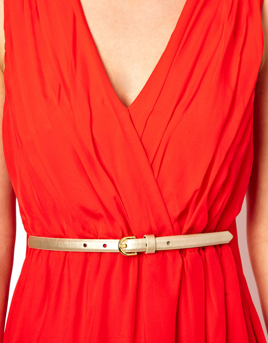 ted baker maxi dress with belt in orange lyst