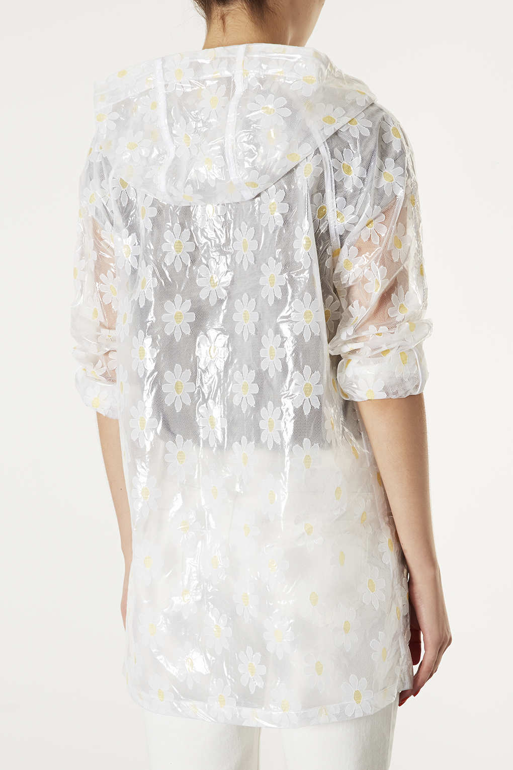 Lyst Topshop Daisy Clear Lace Plastic Mac In White
