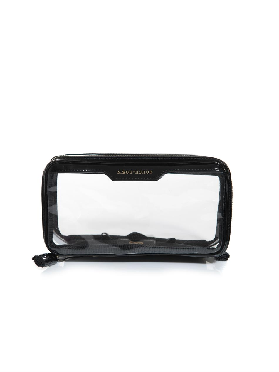 e328ebc496 Anya Hindmarch Inflight Clear Make Up Bag in Black - Lyst