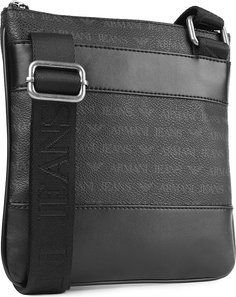 880caebac3 Armani Jeans Small Logo Messenger Bag in Black for Men - Lyst