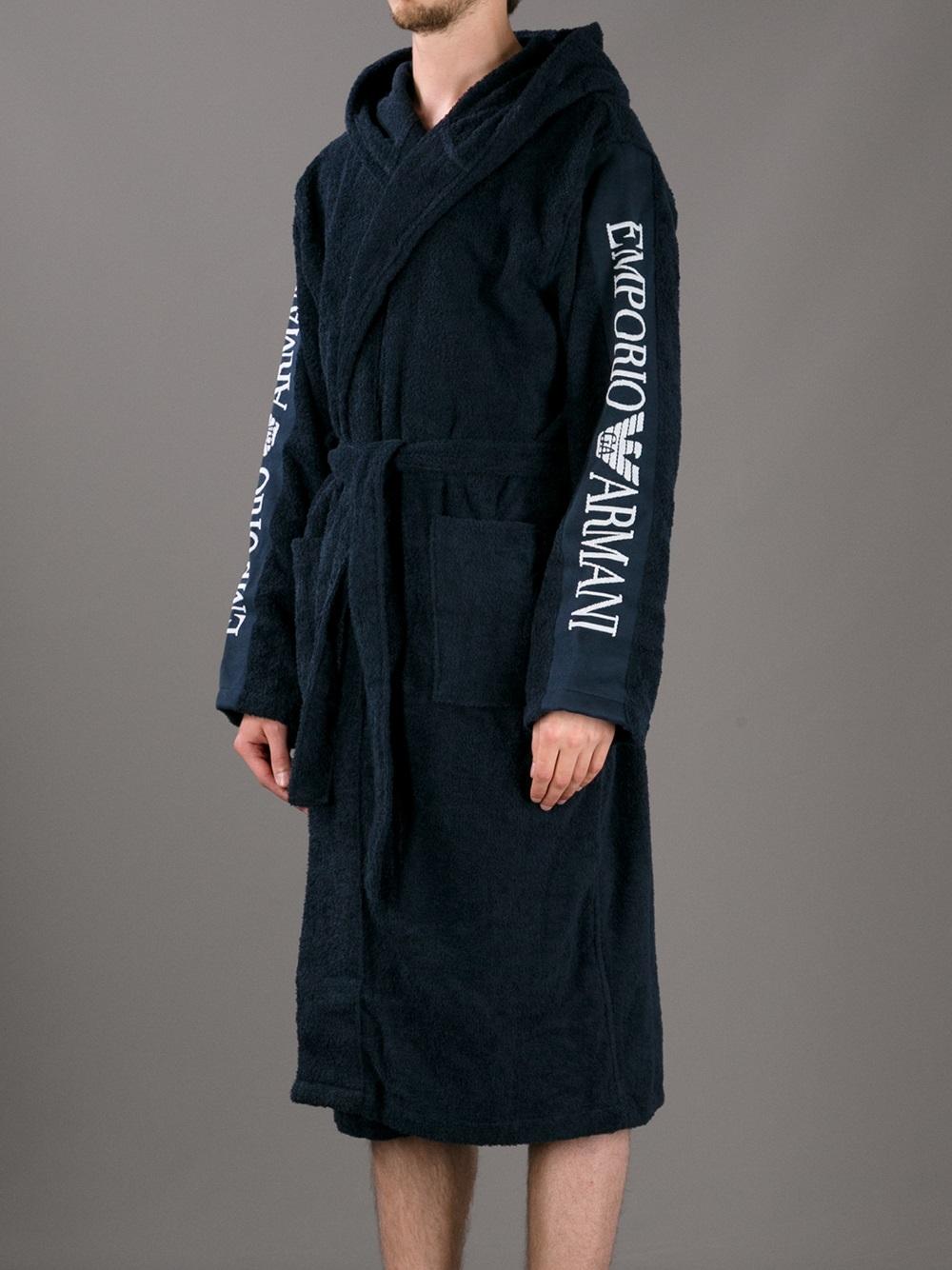 Emporio Armani Logo Robe in Blue for Men - Lyst 5c04f2fe2