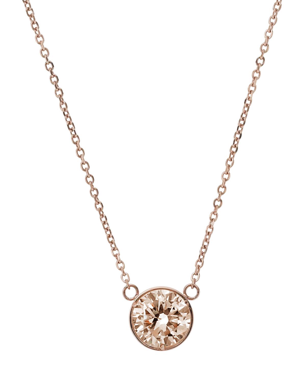 michael kors medium pendant necklace in pink rose gold. Black Bedroom Furniture Sets. Home Design Ideas