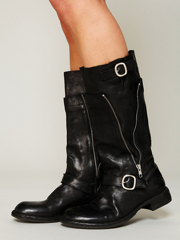Free People Officine Creative Womens Sutton Zip Mid Boot