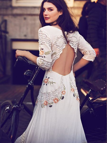 Free People Mexican Wedding Dress In White Ivory Lyst