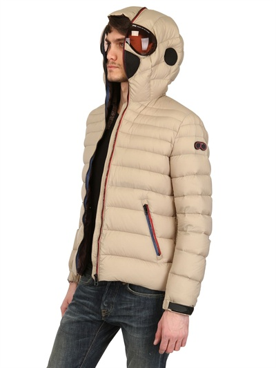 Ai Riders On The Storm Total Zip Up Nylon Down Jacket in Sand (Natural) for Men