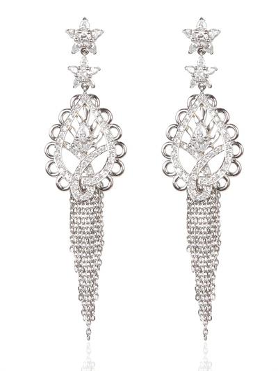 ana de costa paisley earrings in white