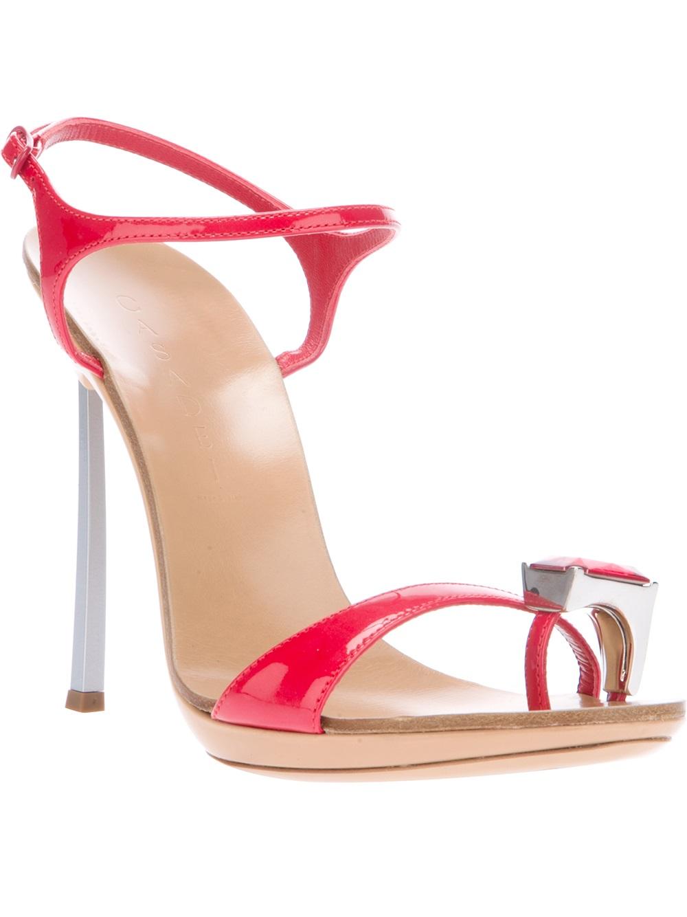 Lyst Casadei Stiletto Sandal In Red