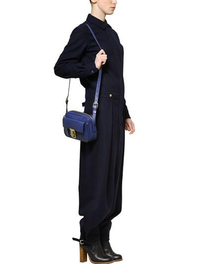 Chlo¨¦ Medium Elsie Grained Leather Bag in Blue (royal navy) | Lyst
