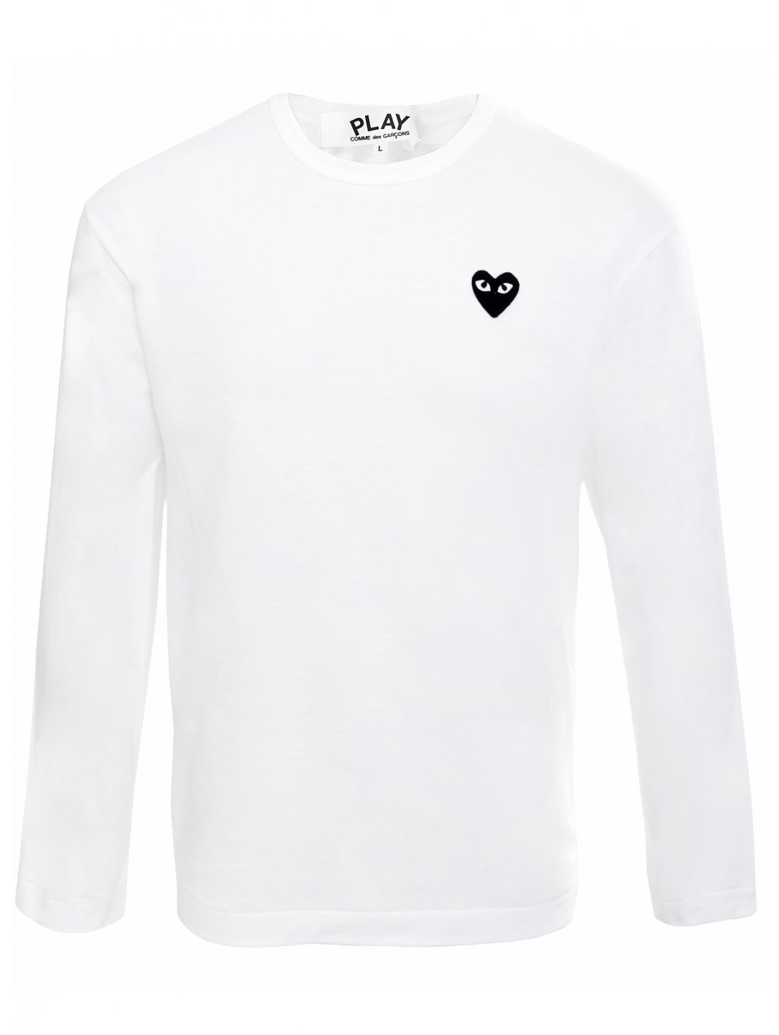 Play Comme Des Gar Ons Play Mens Black Heart Long Sleeve T