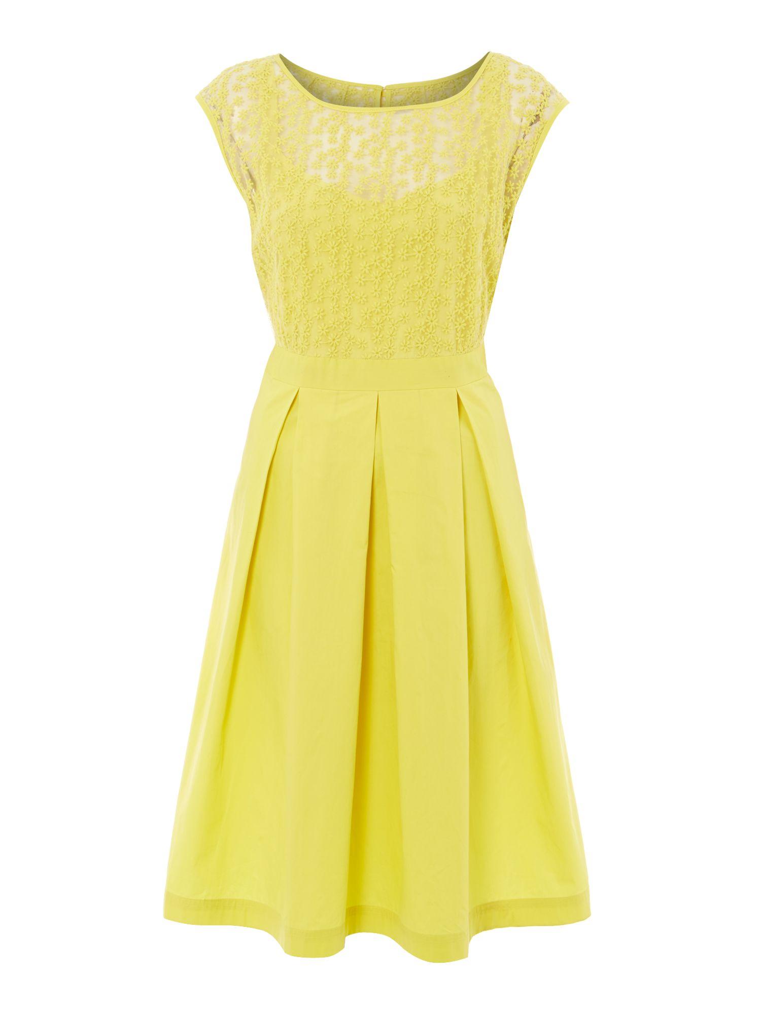 Ladies Yellow Flower Dress Dress Online Uk