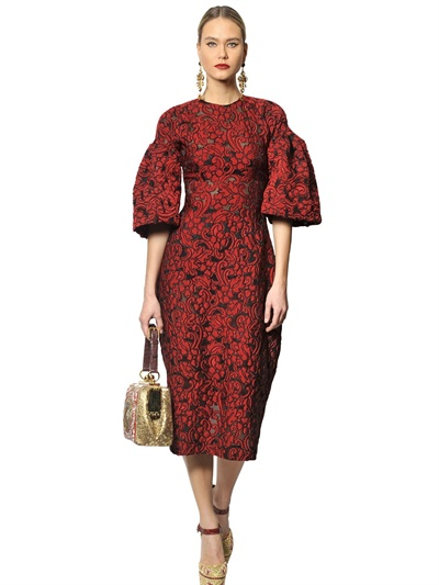 Dolce & gabbana Lace and Tulle Dress in Red | Lyst