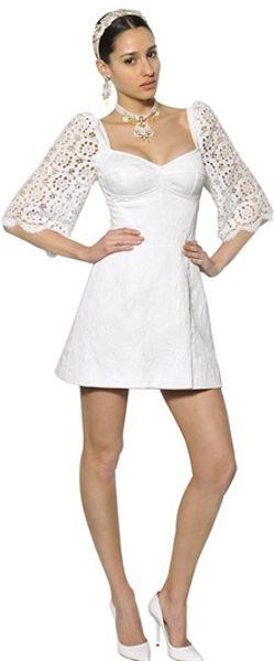 Dolce And Gabbana White Lace Dress Dolce Amp Gabbana Cotton Lace