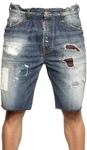 Dsquared2 Big Deans Bro Mississippi Denim Shorts in Blue for Men