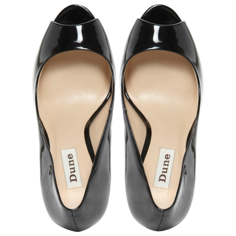 70423d6e4d79 Dune Clarity Patent Transparent Block Heel Court Shoes in Black - Lyst