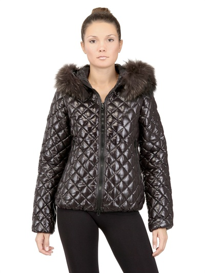 Duvetica Aida Short Shiny Nylon Down Jacket In Black Lyst