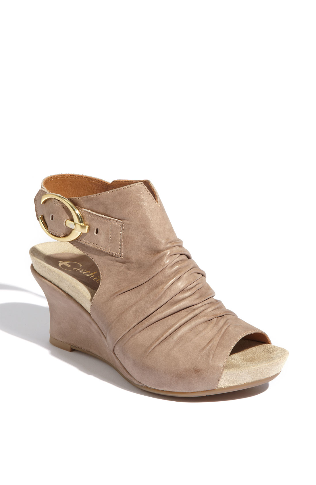 earthies 174 bonaire wedge sandal in gray grey taupe lyst