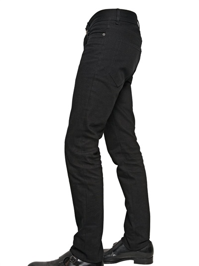 Givenchy 17cm Hdg Metal Logo Denim Jeans In Black For Men