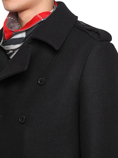 Givenchy Wool Cloth Military Coat In Black For Men Lyst