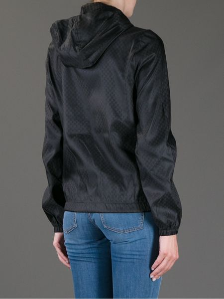 Gucci Hooded Monogram Windbreaker in Black Lyst