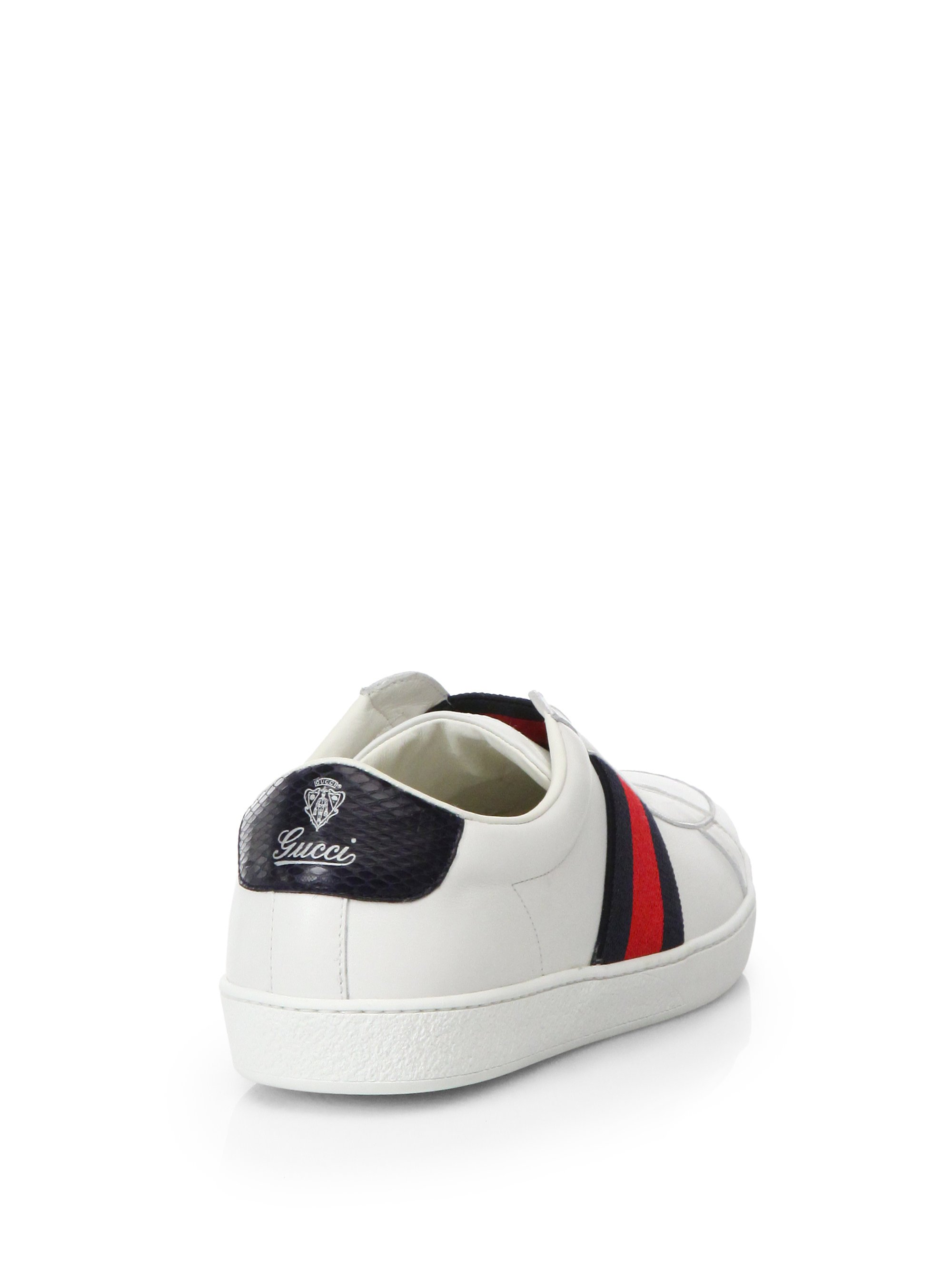 gucci brooklyn slip on sneakers in white for men lyst. Black Bedroom Furniture Sets. Home Design Ideas