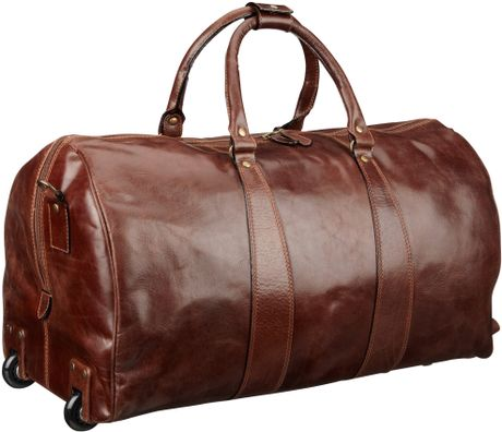 John Lewis Firenze Medium Leather Holdall In Brown For Men