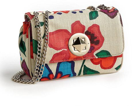 Kate Spade Floral Fiesta Christy Crossbody Bag In White (clotted Cream Multi) | Lyst