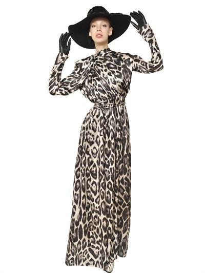 Silk long sleeve maxi dress