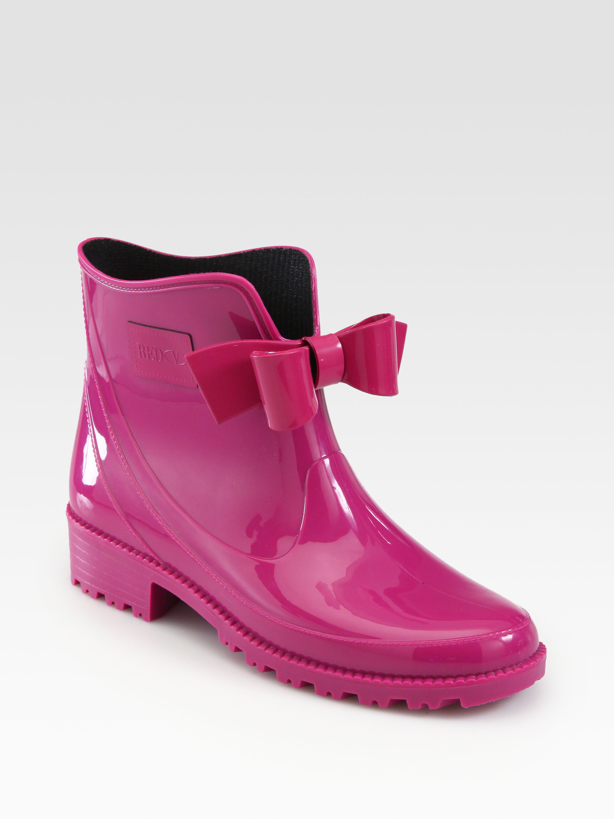 Red Valentino Bow Rain Boots In Pink Raspberry Lyst