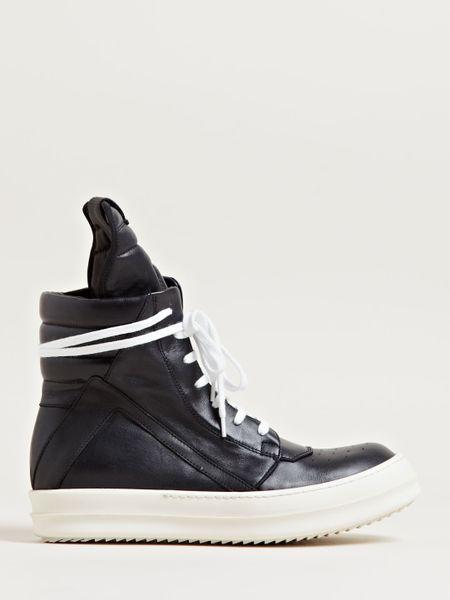 rick owens womens geobasket sneakers in black lyst. Black Bedroom Furniture Sets. Home Design Ideas