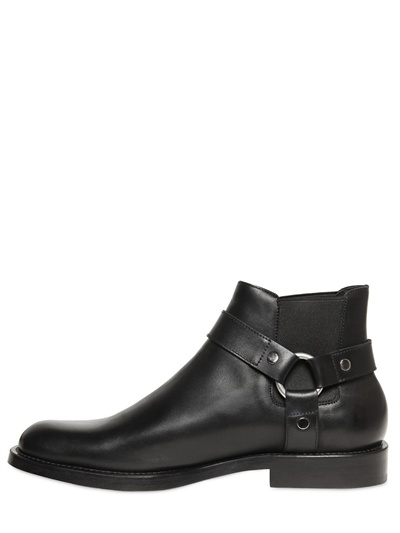 Lyst Saint Laurent Chelsea Low Motorcycle Boots In Black