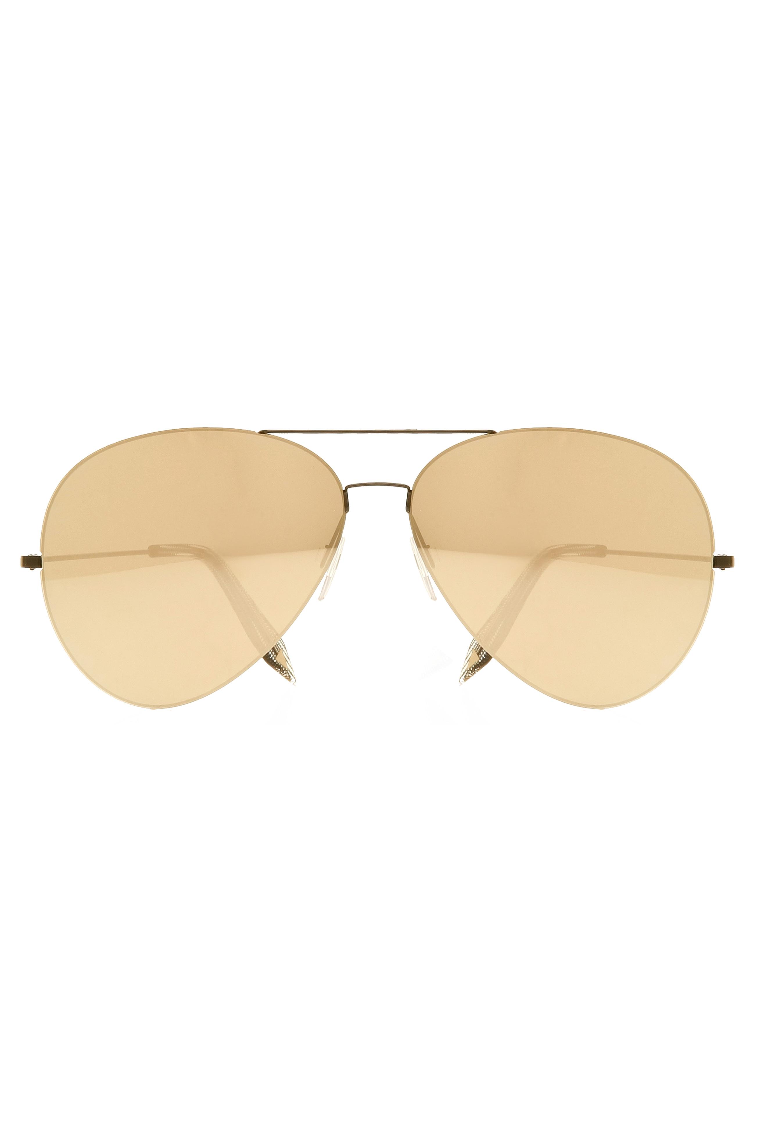 2f5f0b70a9f4 Victoria Beckham Feather Aviator Sunglasses in Metallic - Lyst