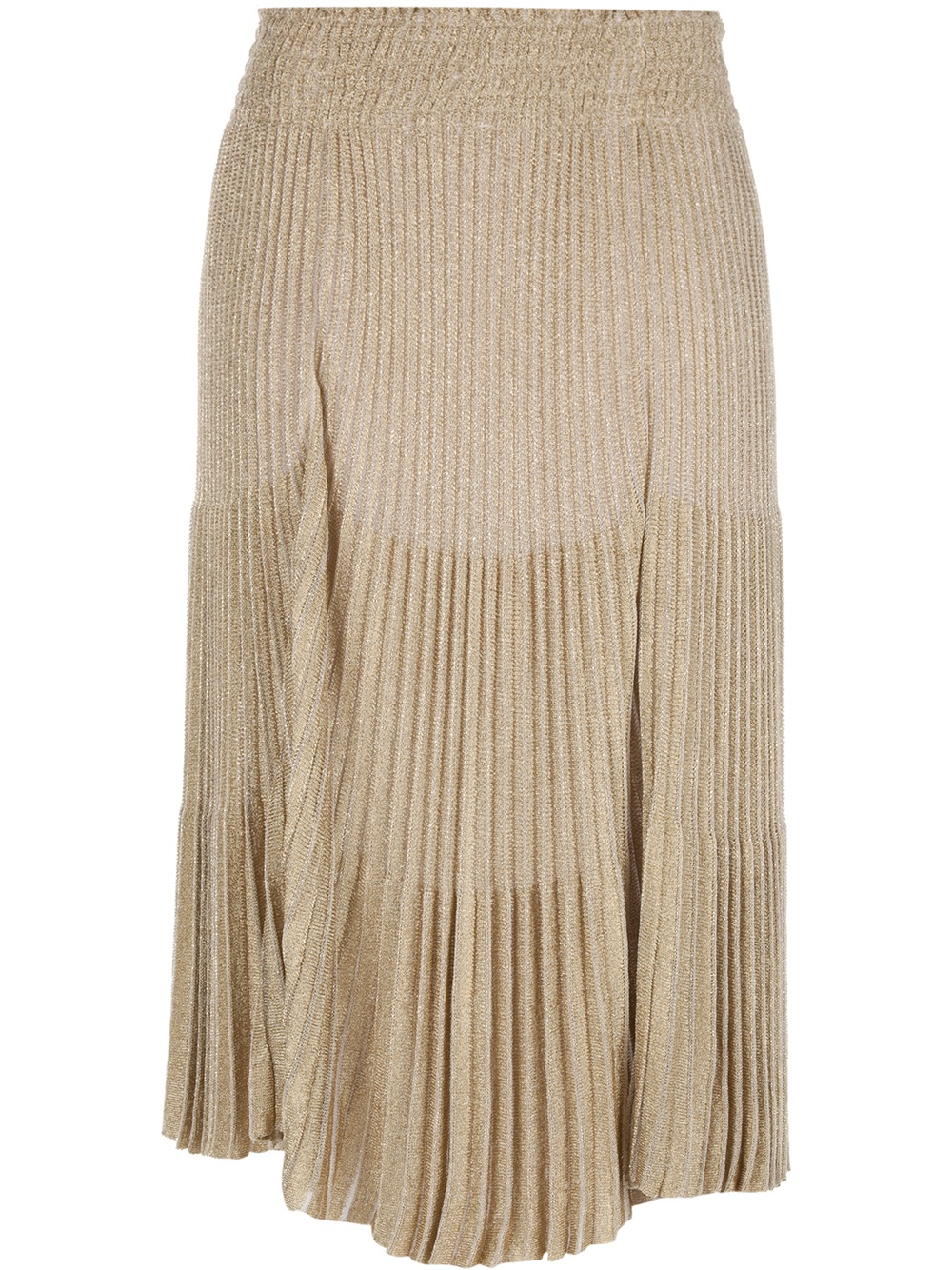 blumarine pleated skirt in gold lyst