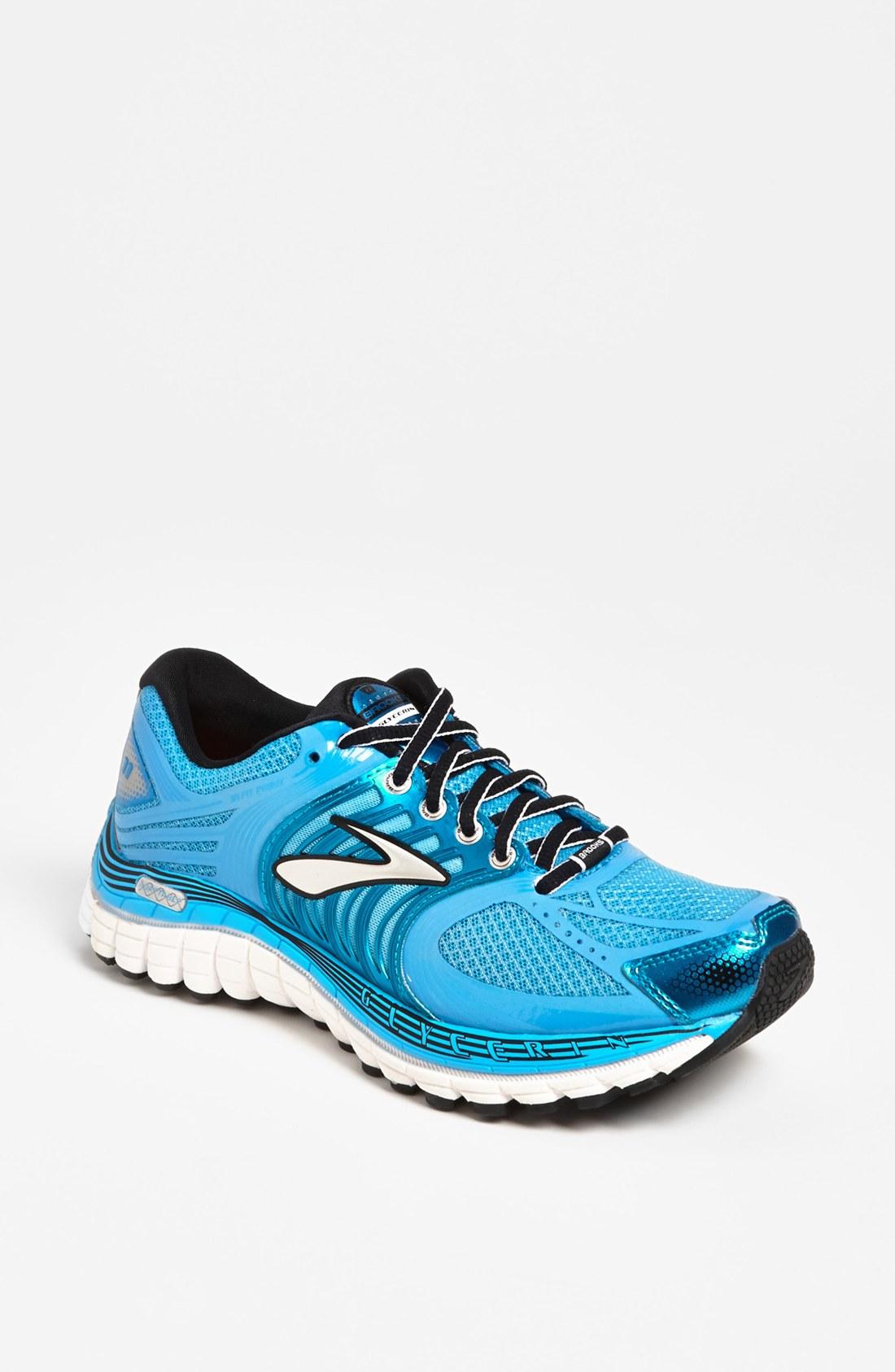 brooks glycerin 11 running shoe women in blue blue. Black Bedroom Furniture Sets. Home Design Ideas