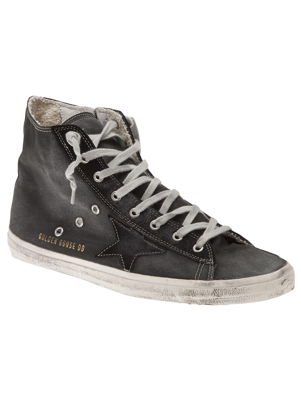 lyst golden goose deluxe brand francy alta sneakers in gray for men. Black Bedroom Furniture Sets. Home Design Ideas