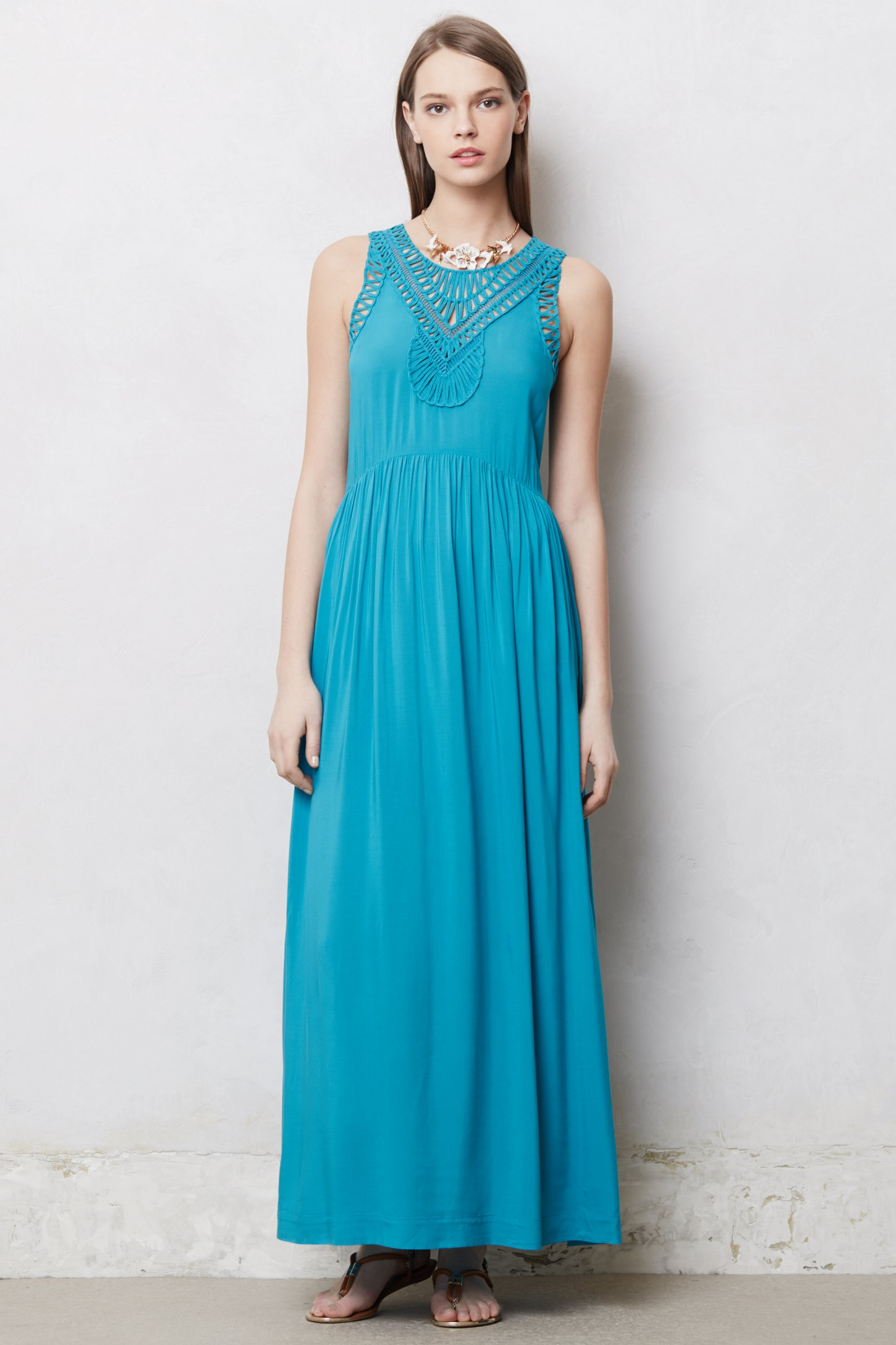 Lyst - Anthropologie Macrame Day Dress in Blue