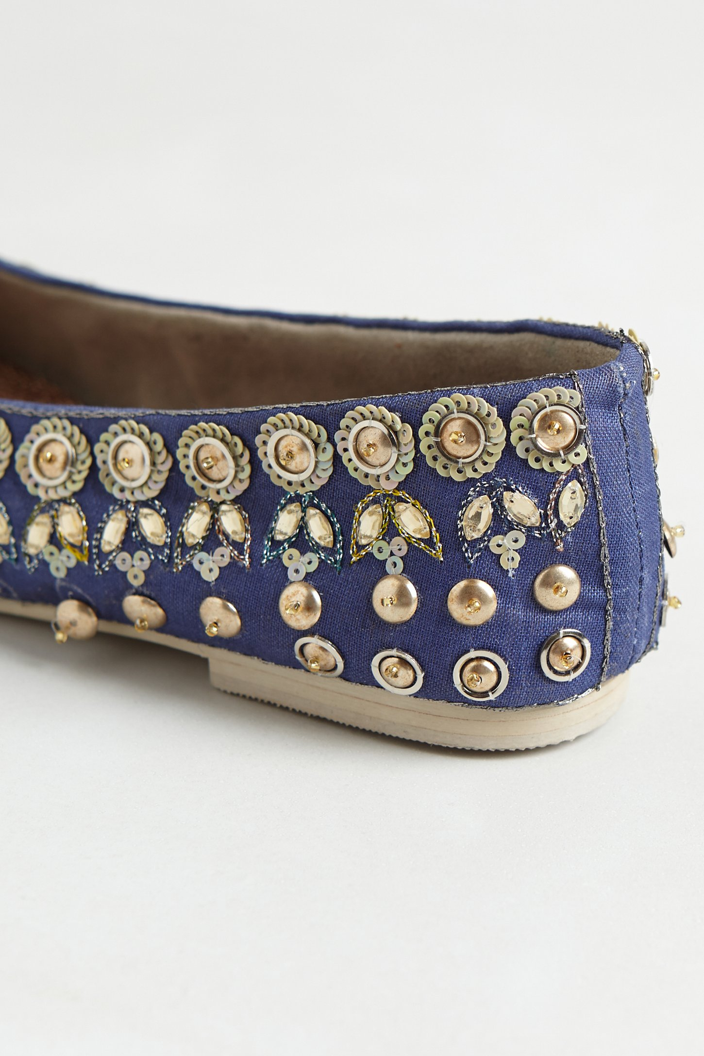 Anthropologie Jeweled Ballet Flats In Blue Lyst
