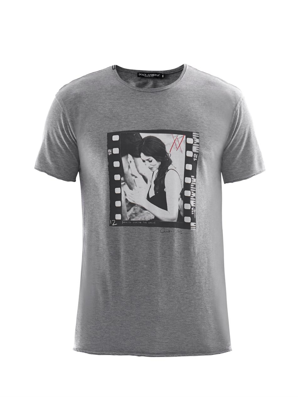 lyst dolce gabbana monica bellucci print t shirt in gray for men. Black Bedroom Furniture Sets. Home Design Ideas